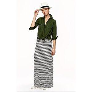 J Crew Striped Maxi Skirt Size XS